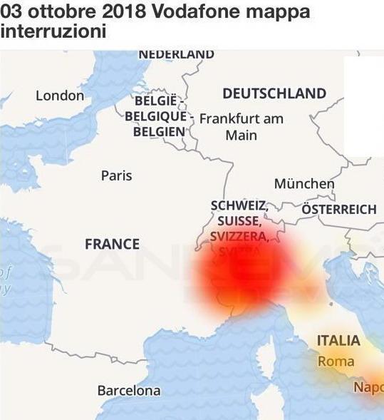 Vodafone down: maggiori problemi nel nord Italia, utenti esasperati