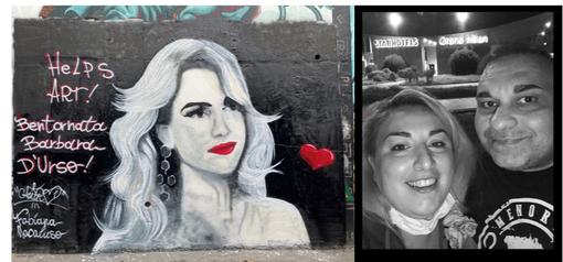 Welcome back Barbara D'Urso: un murales dedicato a lei
