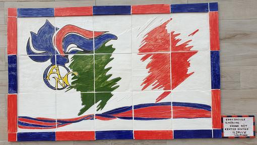 """Volpiano, il murale del """"Jolly"""" nella sede dell'Associazione nazionale carabinieri"""