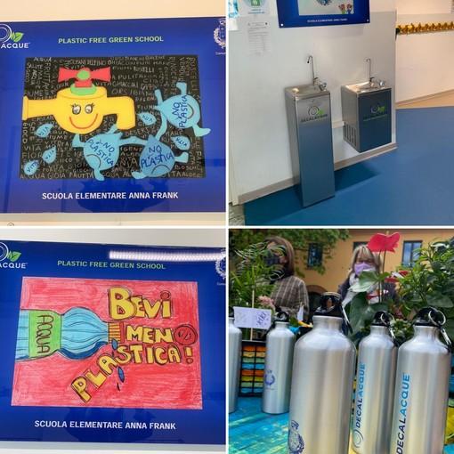 La scuola Anna Frank di Leinì sempre più green: inaugurate le colonnine per l'erogazione dell'acqua