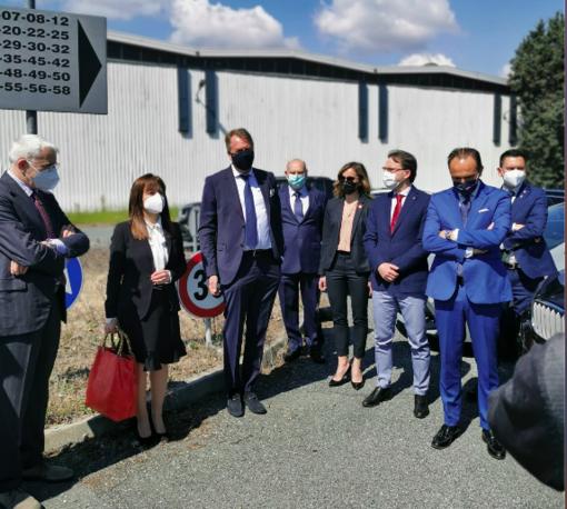 La visita del Presidente Cirio a Scarmagno