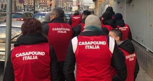 San Bernardo d'Ivrea, anche CasaPound alla fiaccolata in solidarietà del tabaccaio