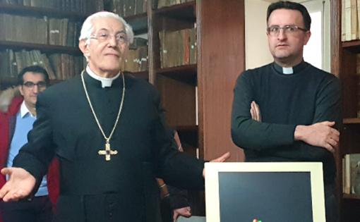 Il vescovo Monsignor Edoardo Cerrato con don Davide