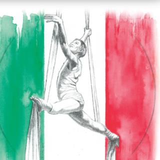 tricolore con ballerina sospesa