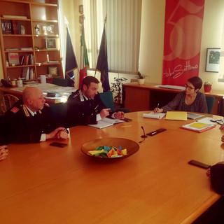 L'incontro tra gli amministratori comunali e le forze dell'ordine