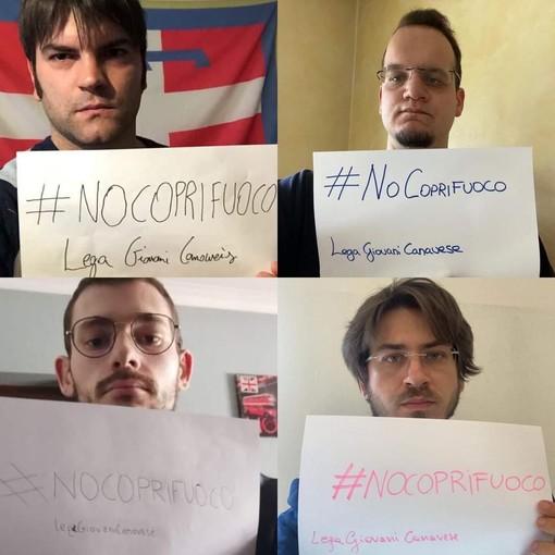 Il gruppo Lega Giovani Canavese dice no al coprifuoco