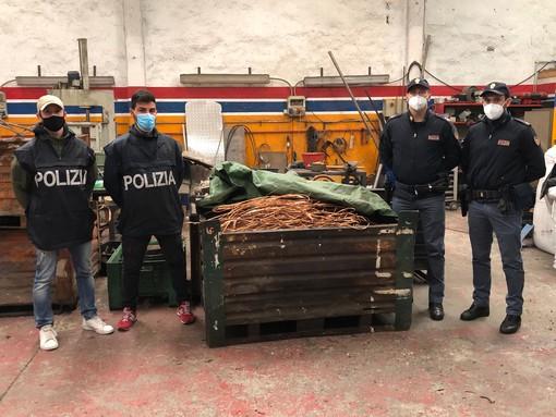Sul furgone con una tonnellata e mezzo di rame rubato: 4 persone denunciate per furto e ricettazione