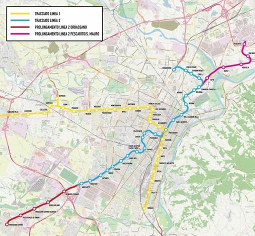 Passo in avanti per la metro 2 Torino: 28 chilometri per 32 stazioni, parcheggi di interscambio a  Orbassano, Anselmetti e Pescarito
