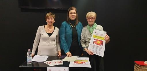 Lucia Chiessa, presidente Arci Zeta, con l'assessore all'Istruzione Tiziana Siragusa e la psicologa Michela Iacovo