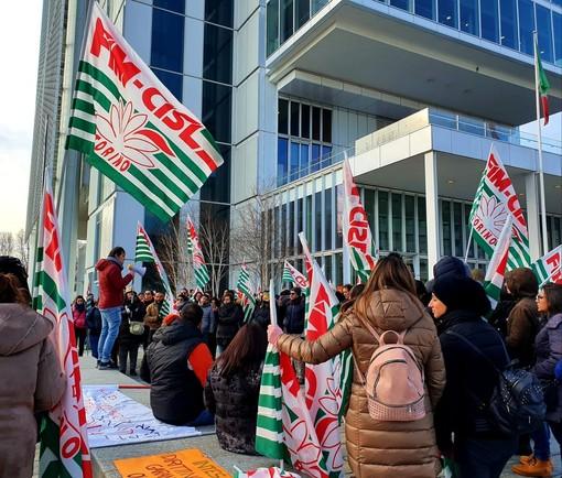 Ex Olisistem Start, si riaccende la protesta dei lavoratori: due ore di sciopero