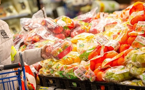 Banco frutta per la spesa