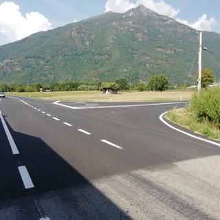 Frana di Quincinetto, concluso l'ampliamento della provinciale: eviterà ingorghi in caso di chiusura dell'A5